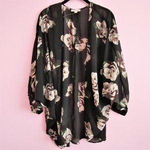 Cotton Candy Floral Kimono Style Cardigan